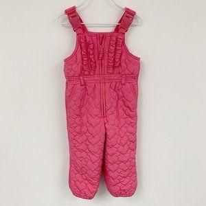baby Gap girl's pink snow pants snow bib  Sz 18-24